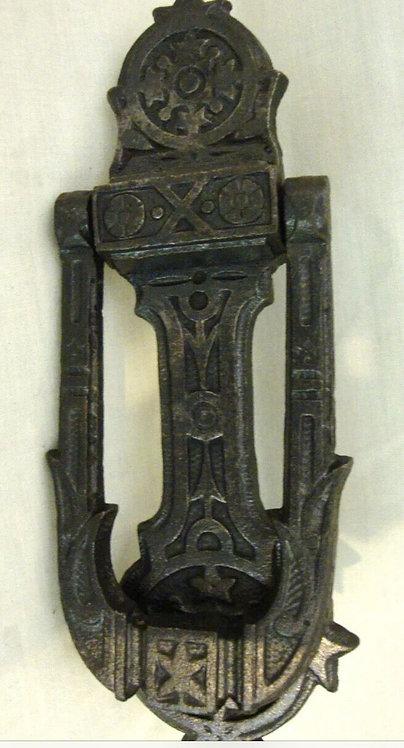 RARE ORIGINAL MEDIEVAL ANTIQUE CAST IRON FRONT DOOR KNOCKER PERIOD OLD ANTIQUE