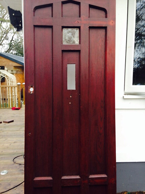 SOLID OAK FRONT DOOR OLD RECLAIMED EXTERNAL WOOD HARDWOOD RUSTIC ANTIQUE.