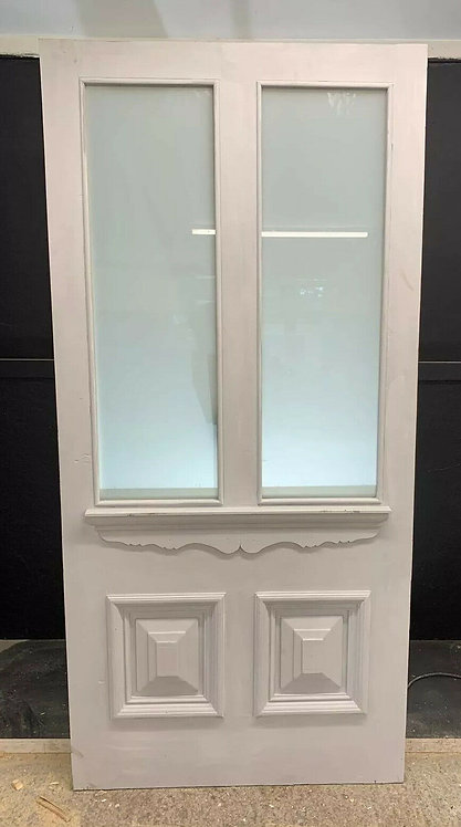 X LARGE VICTORIAN FRONT DOOR PERIOD OLD RECLAIMED ANTIQUE REBUILT SAFETY GLASS