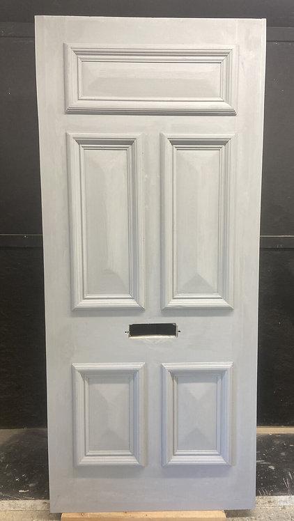 LARGE VICTORIAN FRONT DOOR PERIOD OLD RECLAIMED ANTIQUE REBUILT WOOD PINE REFURB