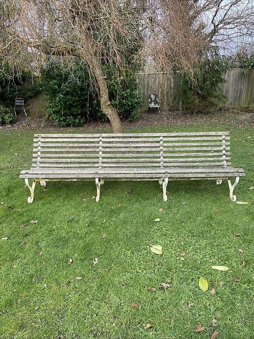 RARE ANTIQUE EDWARDIAN MCC LORDS CRICKET GROUND BENCH SEAT GARDEN METAL PERIOD