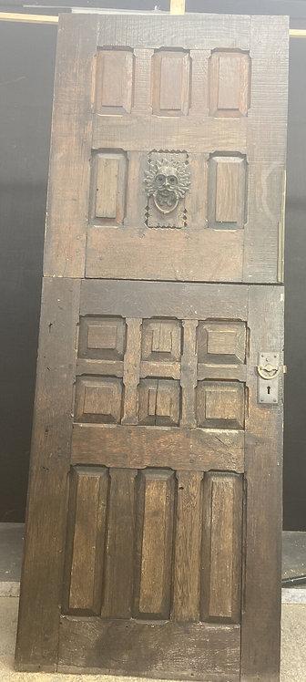 SOLID OAK STABLE FRONT DOOR OLD PERIOD WOOD ANTIQUE RECLAIMED HARDWOOD RUSTIC