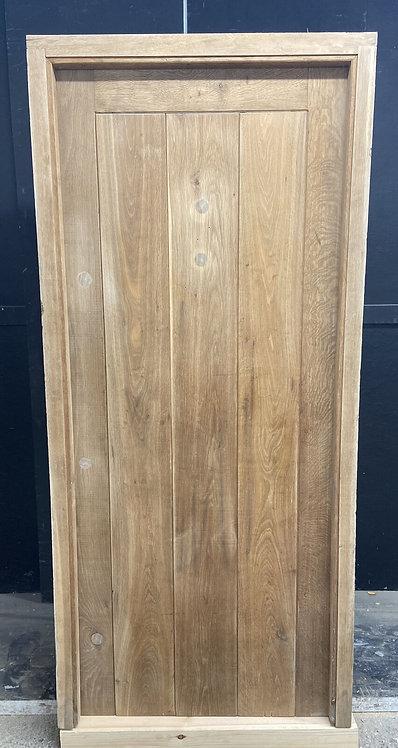 SOLID OAK FRONT DOOR FRAME OLD COTTAGE PERIOD ANTIQUE RECLAIMED LEDGE BRACE WOOD