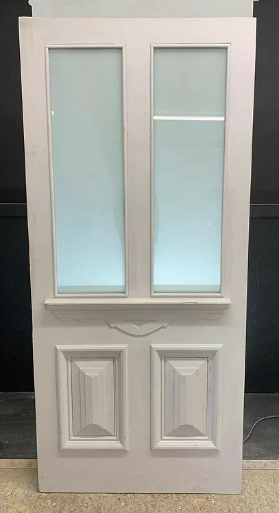 1 LARGE VICTORIAN FRONT DOOR PERIOD OLD RECLAIMED ANTIQUE REBUILT SAFETY GLASS