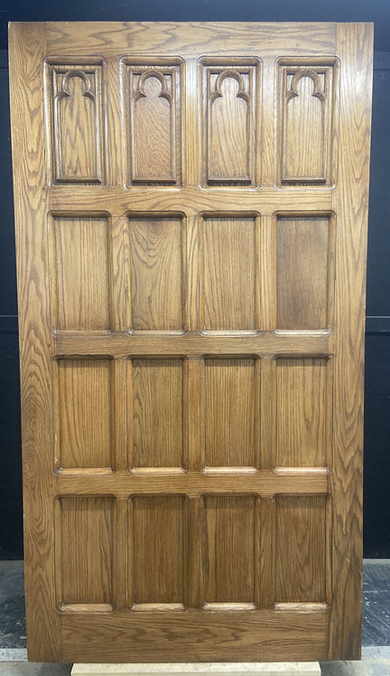 XXL LARGE SOLID OAK FRONT DOOR GOTHIC TUFOR CARVED PERIOD WOOD UNIQUE RECLAIMED