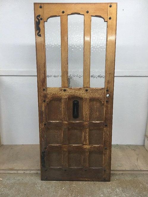 SOLID OAK FRONT DOOR PERIOD WOOD RECLAIMED RUSTIC ANTIQUE OLD WOODEN EBDONS