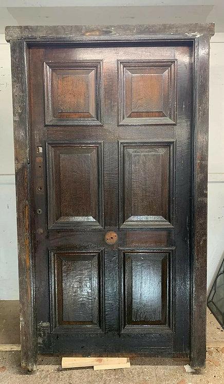 GRAND LARGE REGENCY FRONT DOOR FRAME PERIOD RECLAIMED SOLID OAK ANTIQUE WOOD