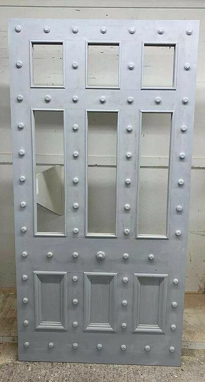 LARGE MANOR FRONT DOOR HARDWOOD RECLAIMED PERIOD OLD ANTIQUE C1820 RARE TEAK