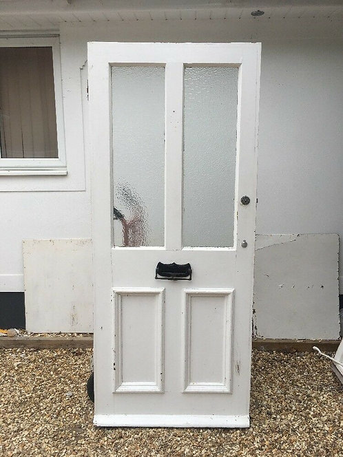 ORIGINAL VICTORIAN FRONT DOOR PERIOD OLD RECLAIMED ANTIQUE WOOD PINE LETTERBOX