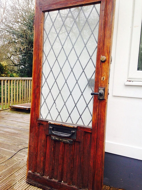 SOLID OAK FRONT DOOR PERIOD WOOD RECLAIMED RUSTIC ANTIQUE RARE VILLAGE GEM