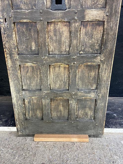 RUSTIC SOLID OAK FRONT DOOR OLD PERIOD WOOD ANTIQUE RECLAIMED ARTS CRAFTS 1890