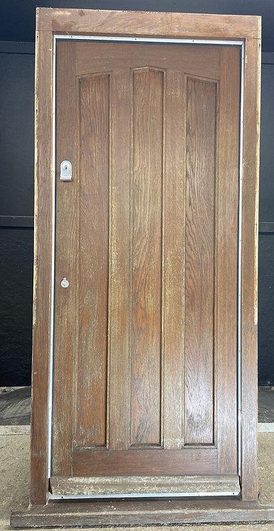 SOLID OAK FRONT DOOR FRAME ANTIQUE PERIOD RECLAIMED OLD HARDWOOD JOINER MADE