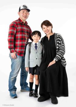 入学祝いの家族写真!