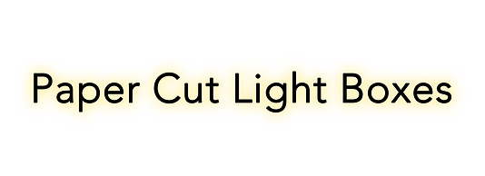 paper cut light boxes