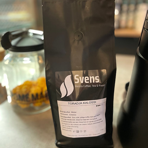 Koffiebonen - Toradja Kalossi sterkte 3 van 5