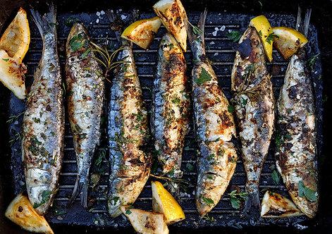 Mediterranean Sardines whole round 600g (R50/pkt)