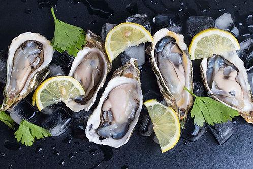 Oysters halfshell medium (12 units) - R15/unit