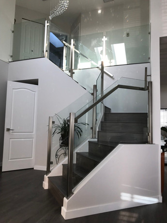 Caspio Glass Stainless Steel Post Glass Railing