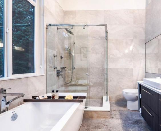 Caspio Glass Corner Sliding Shower