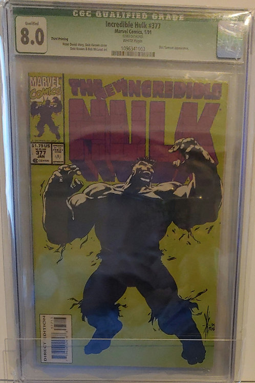 Incredible Hulk #377  Rare 3rd printing