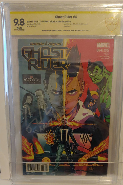 Ghost Rider Robbie Reyes #4 variant with autographs!