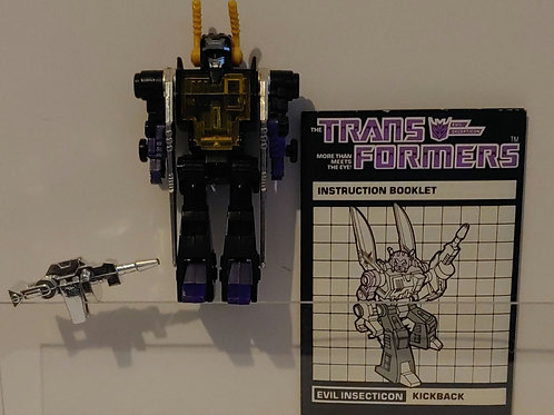 Transformers G1 Kickback complete with instructions