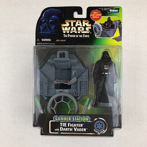 Star Wars The Power of the Force Gunner Station Tie Fighter with Darth Vader