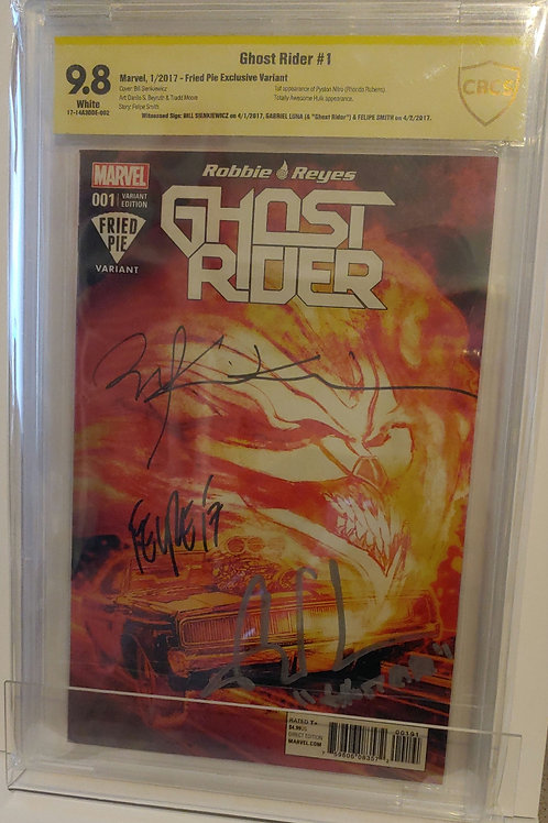 Ghost Rider Robbie Reyes #1-- variant with 3 autographs!