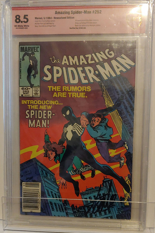 Amazing Spider-man #252 - autographed by Stan Lee!