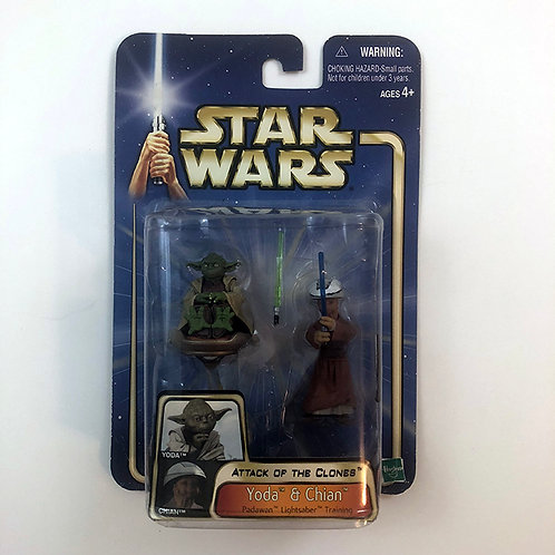 Star Wars Attack of the Clones Yoda & Chian