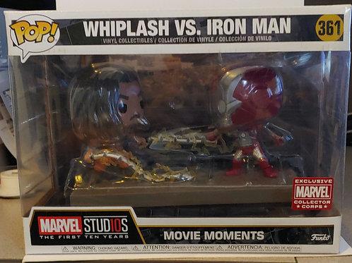 Marvel Movie Moments Whiplash vs. Iron Man exclusive