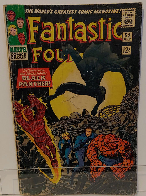 Fantastic Four #52. 1st appearance Black Panther