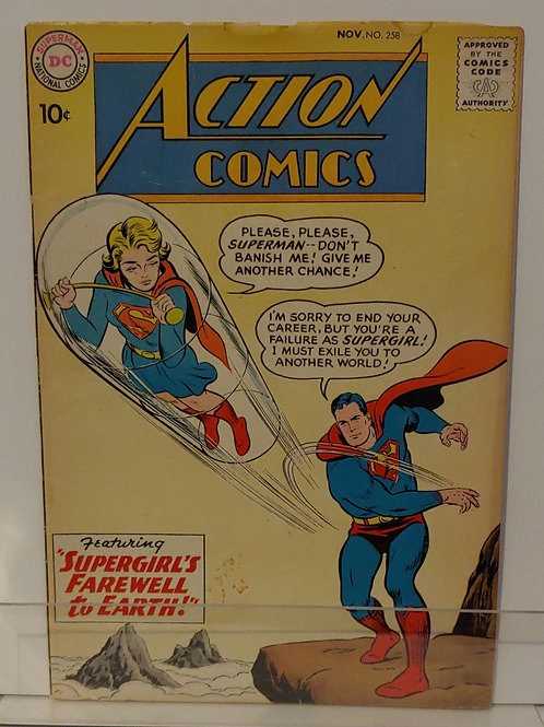 Action Comics 258 - Early Supergirl story