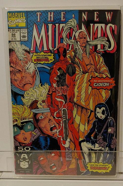 New Mutants # 98-- 1st Deadpool