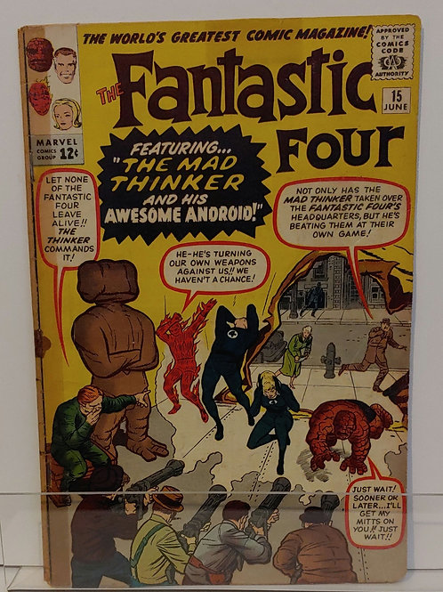 Fantastic Four #15--1st Mad Thinker!