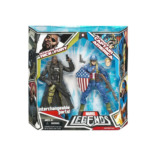 Marvel Legends Ultimate Nick Fury & Ultimate Captain America