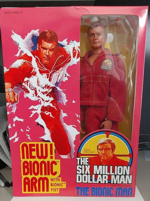 "6 Million Dollar Man 13"" figure in repro box + bonuses"