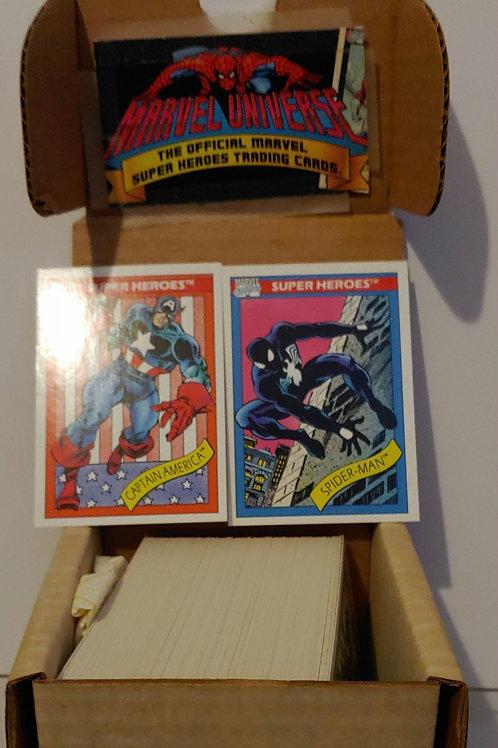 Marvel Universe series 1  162 base card set
