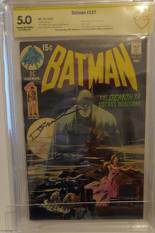 Batman #227 - 2 legendary autographs