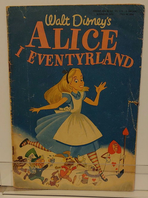 Alice in Wonderland 1950's foreign comic