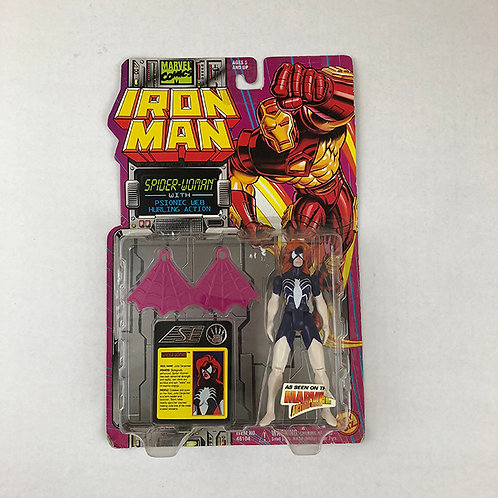 Iron Man Spider-Woman with Psionic Web Hurling Action