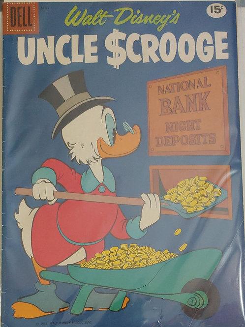 Uncle Scrooge #33 (1961)  G-VG Barks art!
