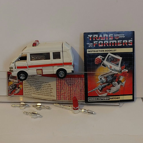 Transformers G1 Ratchet--complete with wear
