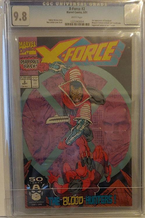 X-Force #2 -- 2nd Deadpool-- CGC. 9.8