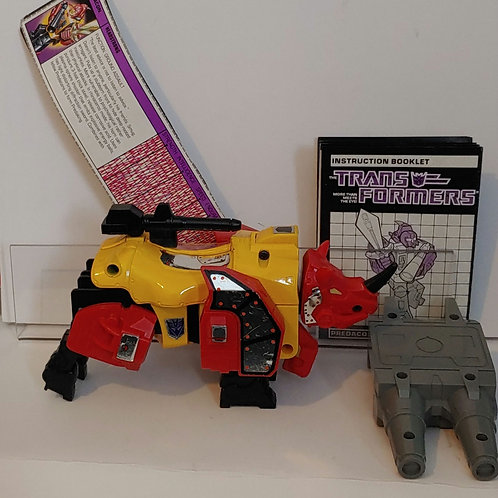 Transformers G1 Predacon Headstrong-- metal version