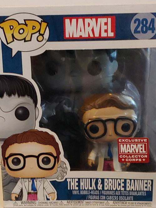 The Hulk and Bruce Banner exclusive pop