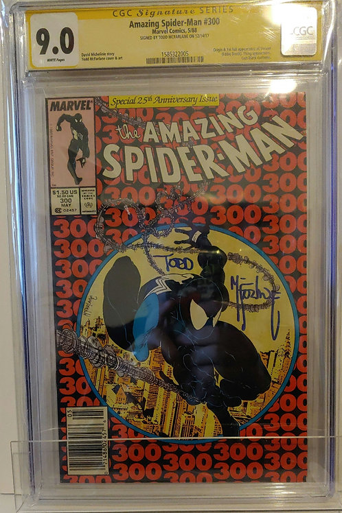 Amazing Spider-man #300-- McFarlane Autograph!