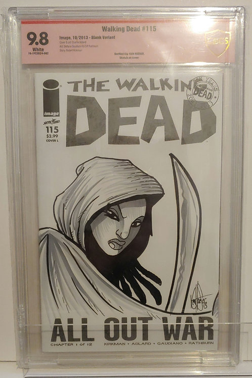 The Walking Dead #115 - double sided art cover and autographed by Ken Haeser