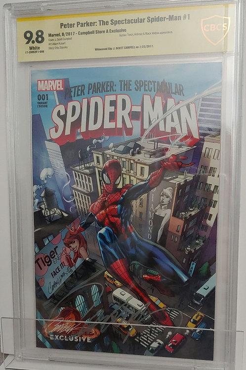 Peter Parker: The Spectacular Spider-man #1 - Autographed J. Scott Campbell SDCC