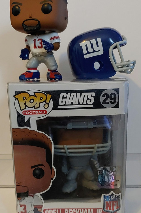 Funko Odell Beckham Prototype with rare white Giants jersey